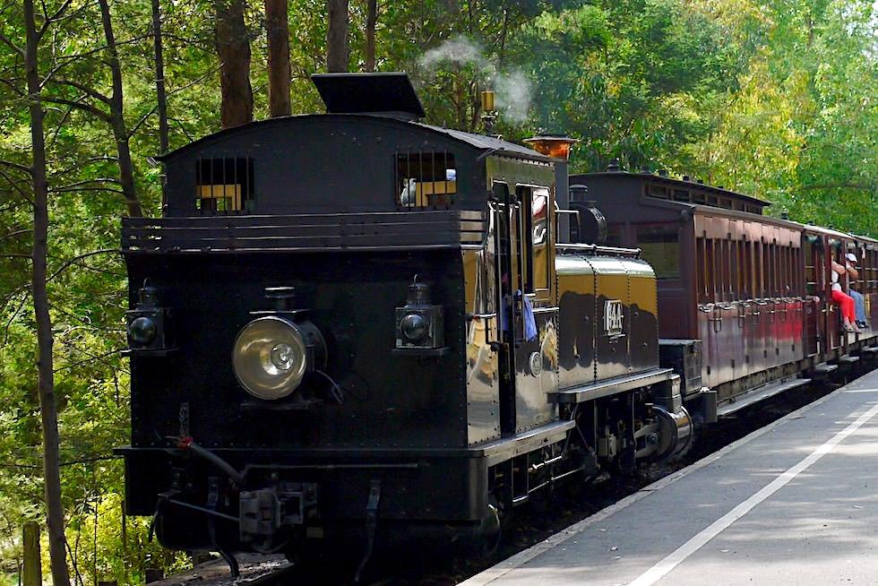 Puffing Billy Railway - 1'C1' Tenderlokomotive sind die meist eingesetzten historischen Dampflokomotiven in der Museumsbahn bei Belgrave bei Melbourn - Victoria