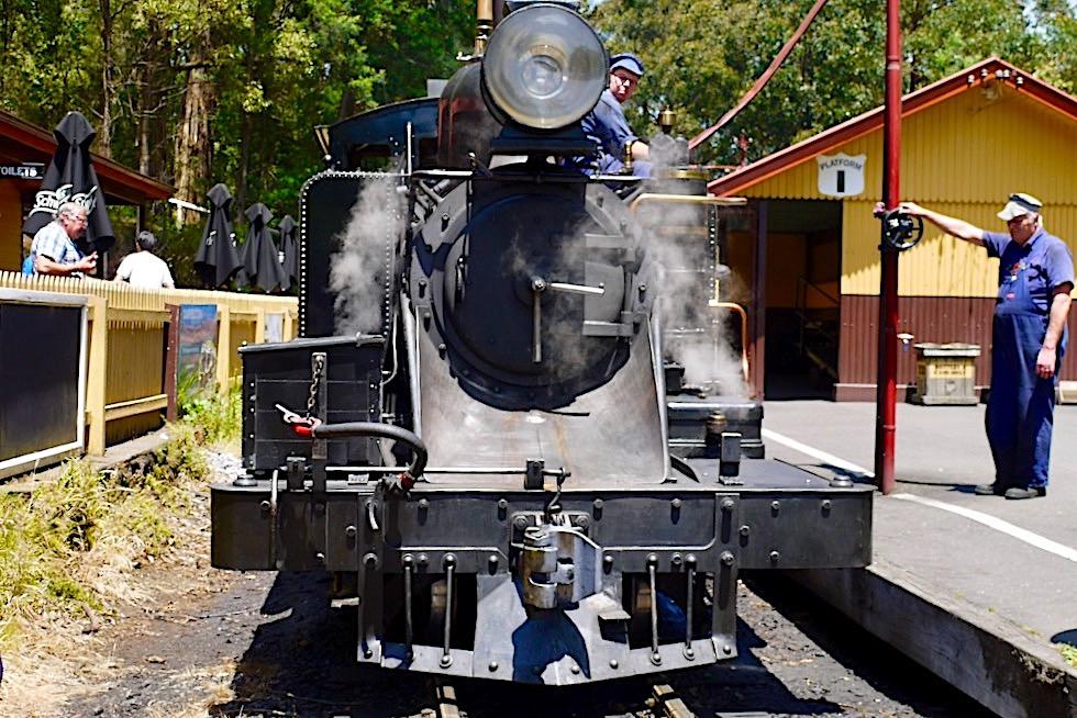 Puffing Billy: historische Dampflokomotive - Lakeside: Endstation oder Zwischenstopp - Melbourne, Victoria