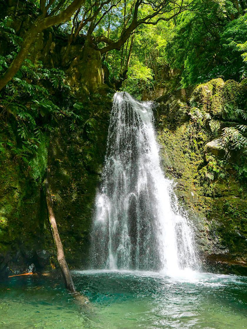 Salto do Prego Kurzwanderung - Idyllisch gelegener Wasserfall und beliebtes, erfrischendes Bade-Becken - Sao Miguel - Azoren