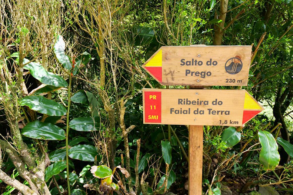 Salto do Prego - Wegkreuzung & zusätzliche optionale Wanderrouten - Sao Miguel - Azoren