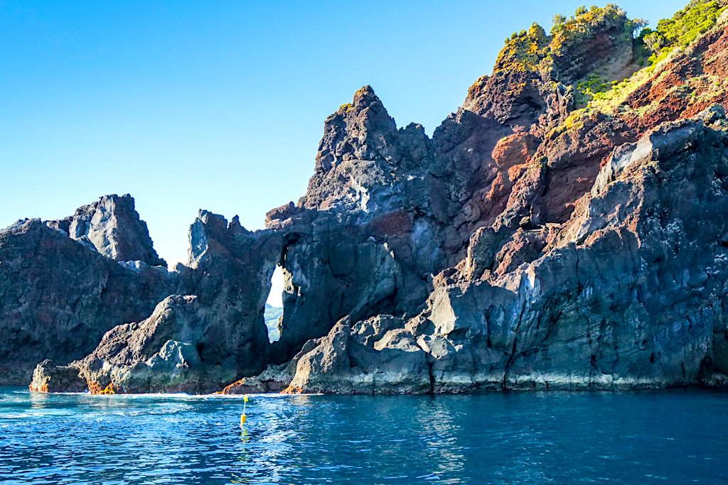 Insel Pico: die Südküste ist der beste Ort, um Wale zu beobachten - Azoren