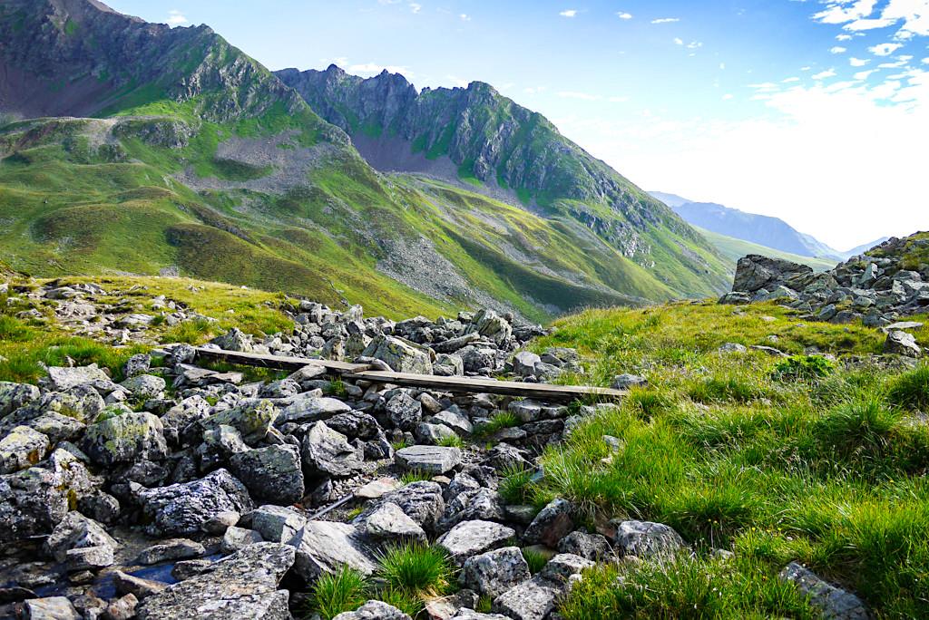 Ursprung des Seßladbach bei der Niederelbehütte - Verwallgebirge im Paznaun - Österreich