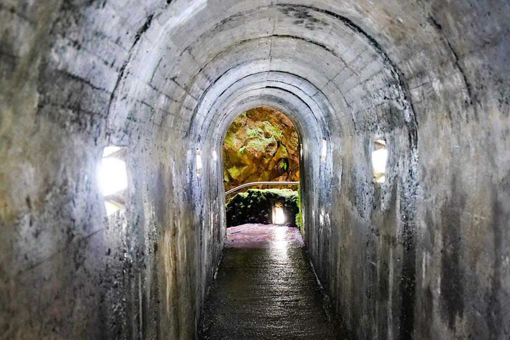 Algar do Carvao - Zugang zum Vulkanschlot - Terceira - Azoren