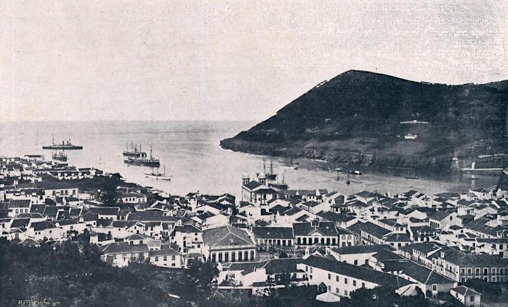 Angra do Heroismo - historisches Foto der Stadt - Terceira - Azoren