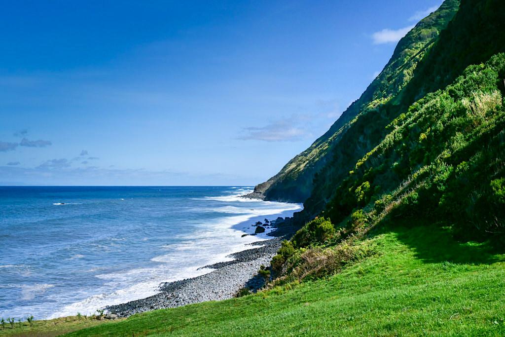 Faja dos Cubres - Schön gelegener Wanderparkplatz - Sao Jorge, Azoren