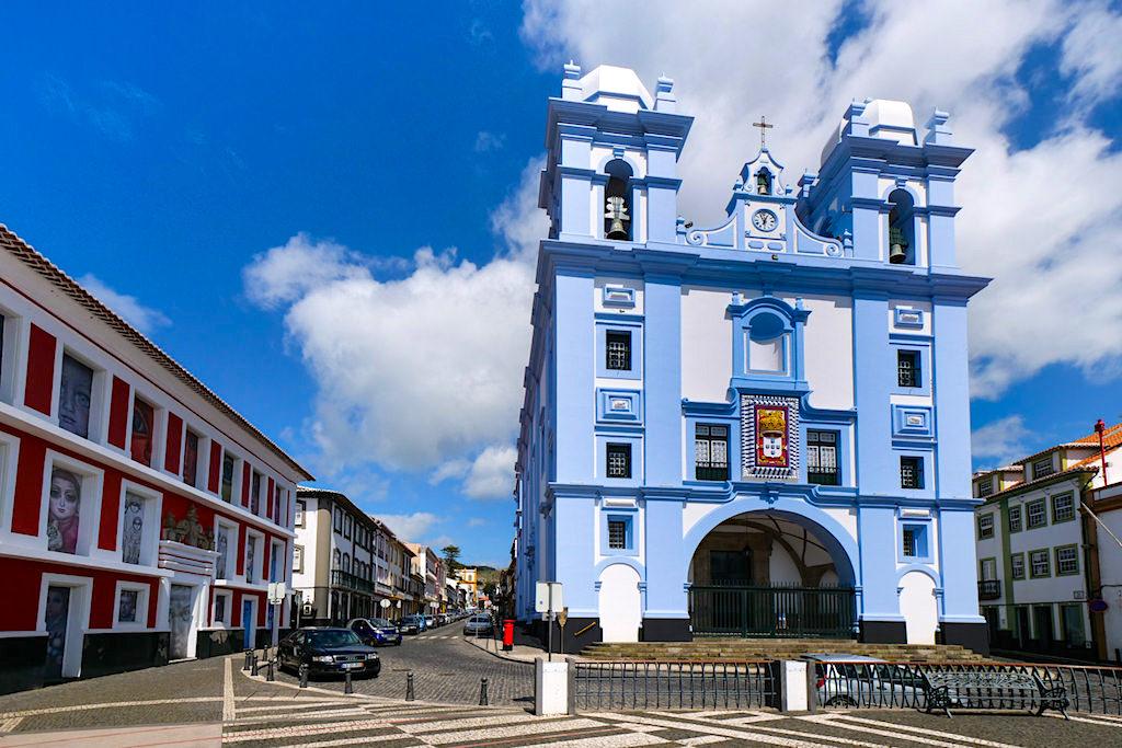 Igreja da Misericordia - Imposantes blau-weißes, barockes Bauwerk & Kirche von Angra do Heroismo - Terceira - Azoren