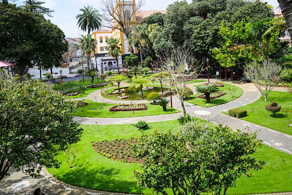 Jardim Duque do Donatario, der wunderschöne Stadtpark von Angra do Heroismo - Terceira - Azoren