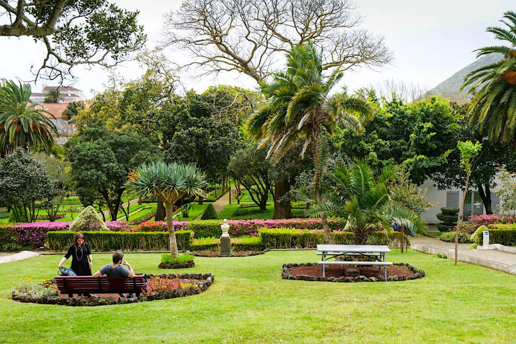 Jardim Duque oder Jardim Publico - Stadtpark & grüne Idylle von Angra do Heroismo - Terceira - Azoren