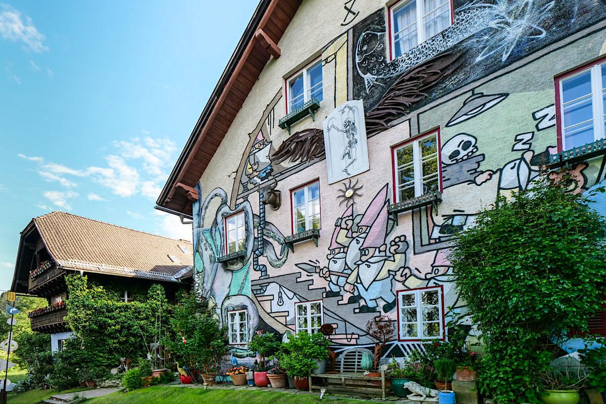 Kleinsasserhof bei Spittal: uriges, schräges, skurrilstes Gasthaus in Österreich mit sehr guter lokaler Küche - Kärnten