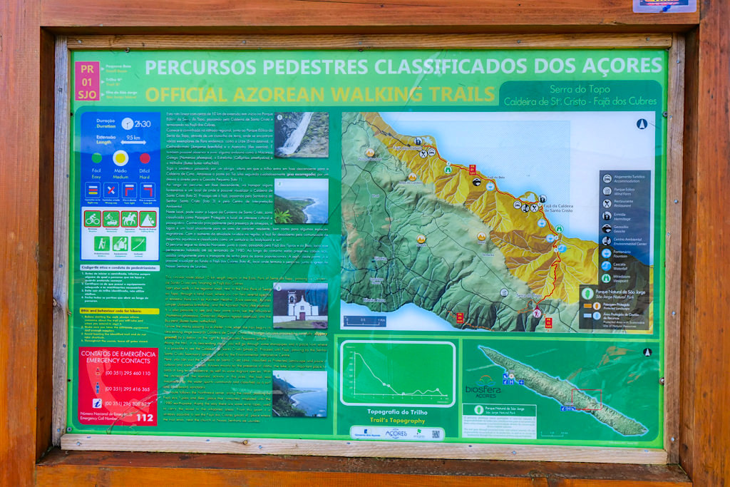 PR01 SJO Wanderung - Serra do Topo über Faja da Caldeira de Santo Cristo zur Faja dos Cubres - Sao Jorge, Azoren
