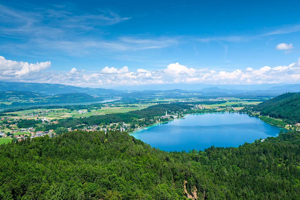 Slow Trail Kitzelberg - Atemberaubender Ausblick auf Klopeiner See, Drau & - Kärnten, Österreich