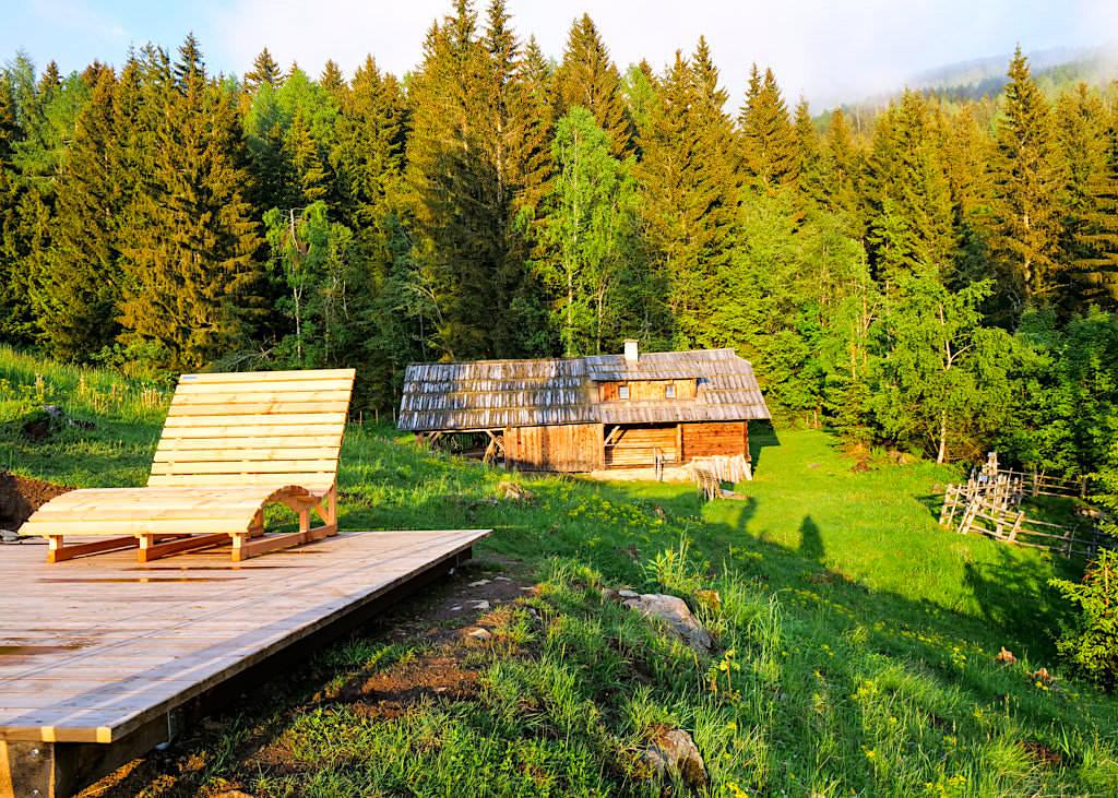 Slow Trail Mirnock - Traumhaft schöner Aussichtspunkt bei der Bergfried Hütte - Kärnten in Österreich