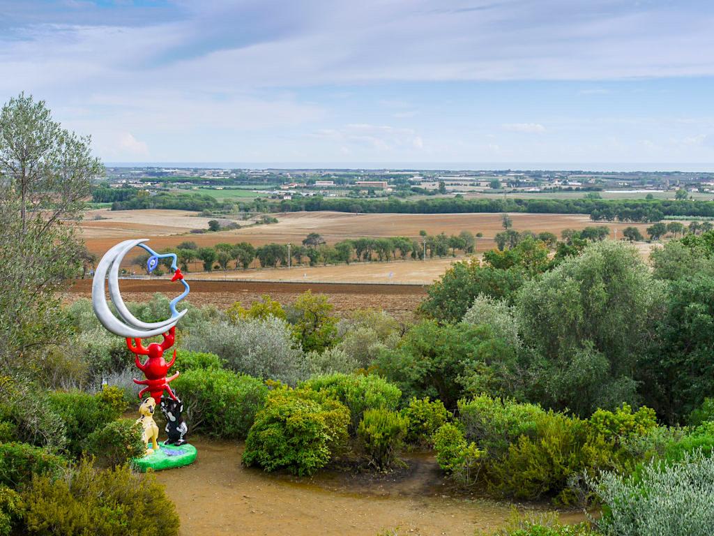 Tarot Garten von Niki de Saint Phalle - Herrlicher Ausblick auf Toskana-Landschaften - Italien