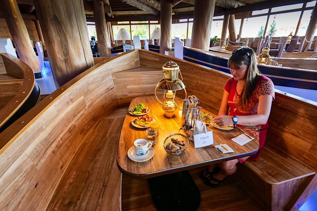 Therme Erding - Hotel Victory: Hafenrestaurant mit Frühstücksbuffet - Bayern