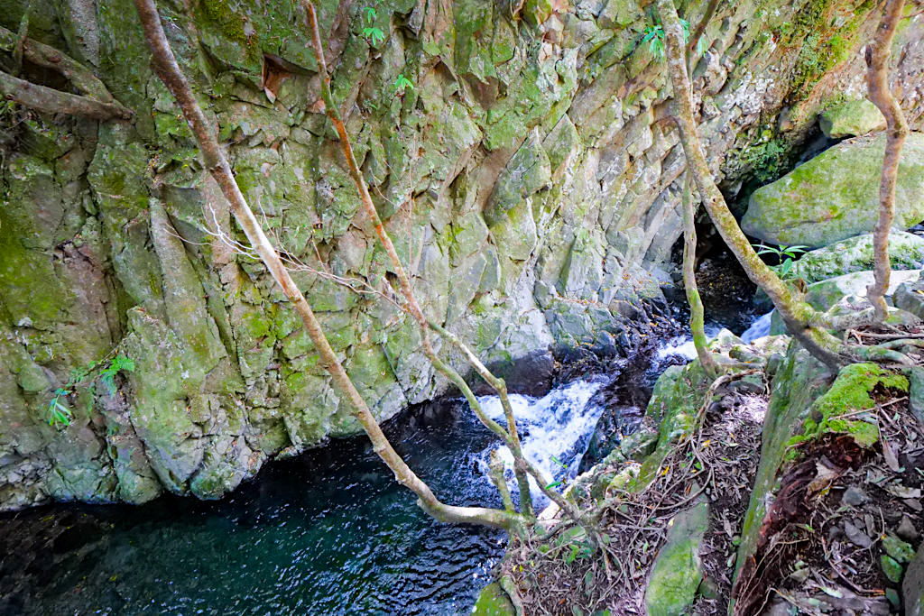 Wanderung zur Faja de Caldeira do Santo Cristo - Wasserfall & Bäche - Sao Jorge, Azoren