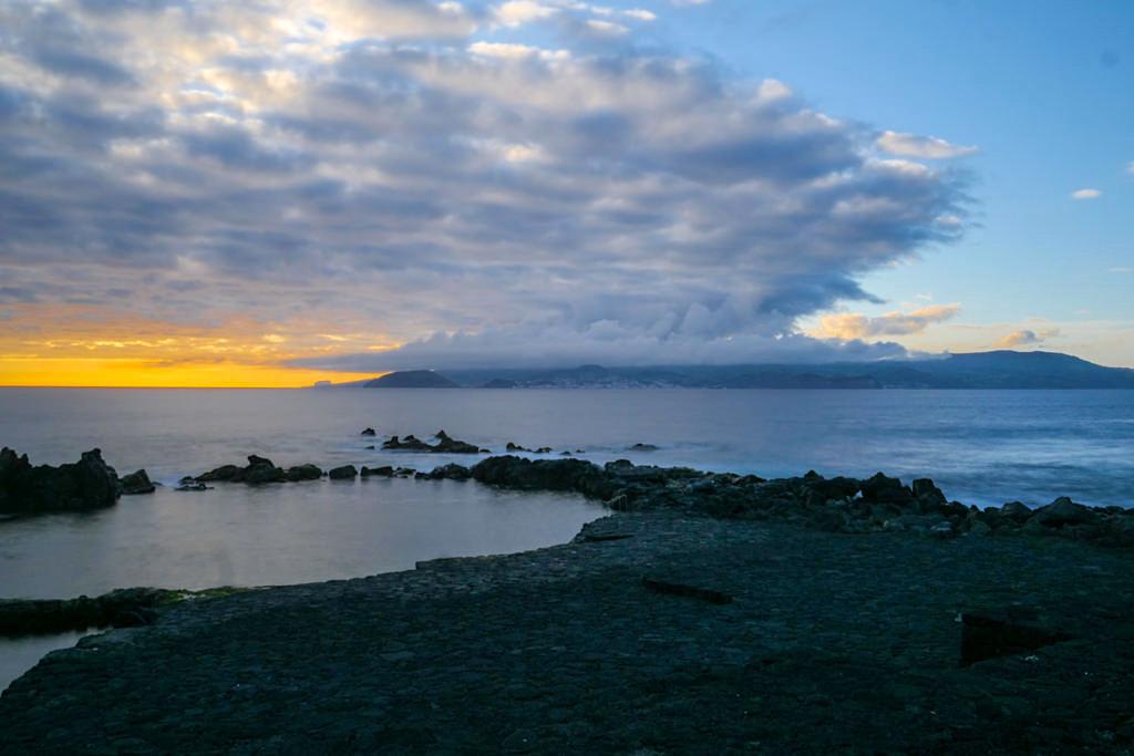 Laja das Rosas südlich von Madalena - Schönster Spot für Sonnenuntergänge auf Pico - Azoren