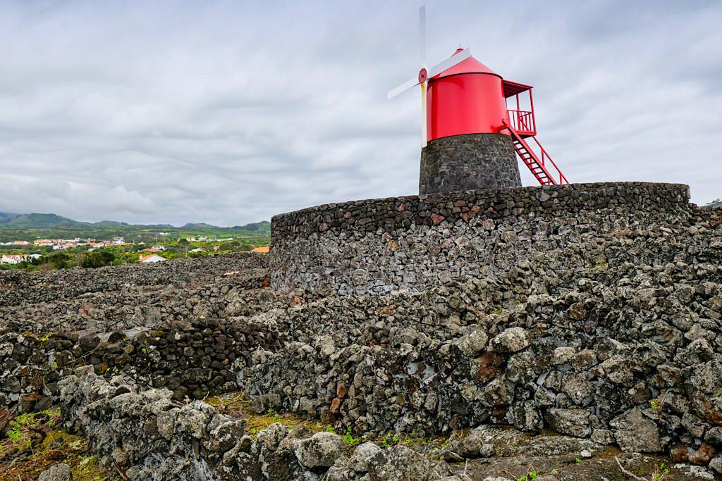 Moinho do Frade & Currais im historischen Verdelho Weinanbaugebiet - UNESCO Weltkulturerbe von Pico - Azoren