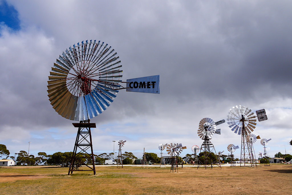 Penong - Windräder spriessen wie Pilze aus dem Boden - Nullarbor - South Australia