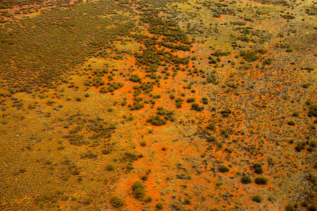 Uluru - Kata Tjuta National Park - Faszinierender Scenic Flight: karge Wüstengegend von oben gesehen - Northern Territory