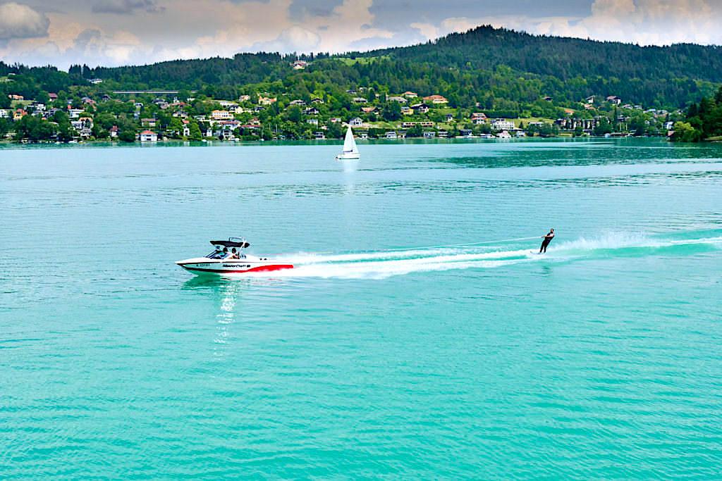 Wörthersee - Aktivitäten auf dem See: Motorboot & Wasserski - Kärnten, Österreich