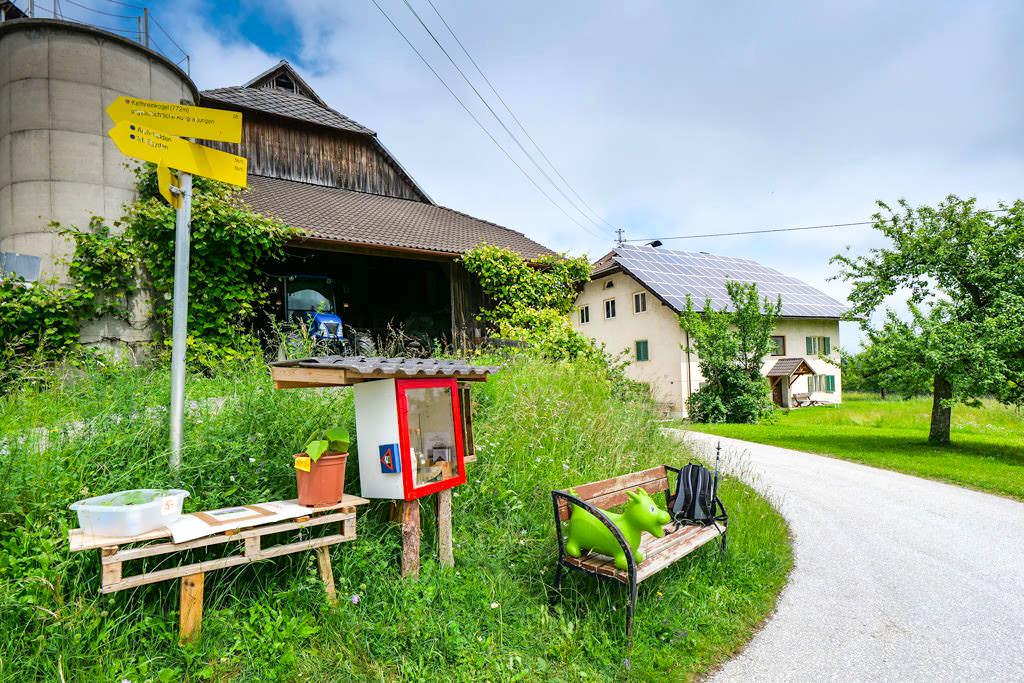 Bauernhof am Fuße des Kathreinkogels verkauft eigene Produkte - Wörthersee, Kärnten - Österreich