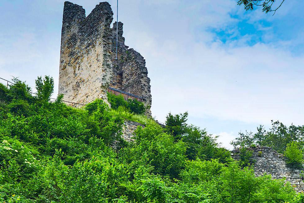 Ruine der Burg Leonstein bei Pörtschach am Wörthersee - Kärnten, Österreich