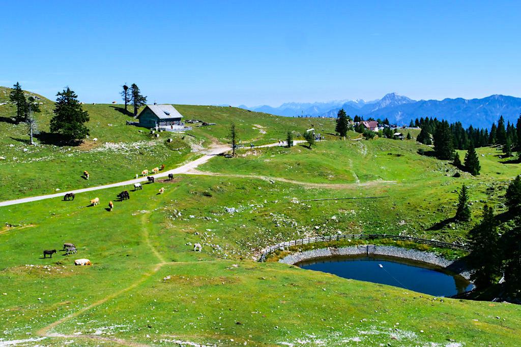 Dobratsch Wanderung - Ausblick auf Almen und Rostratten - Hüttenkult - Kärnten, Österreich