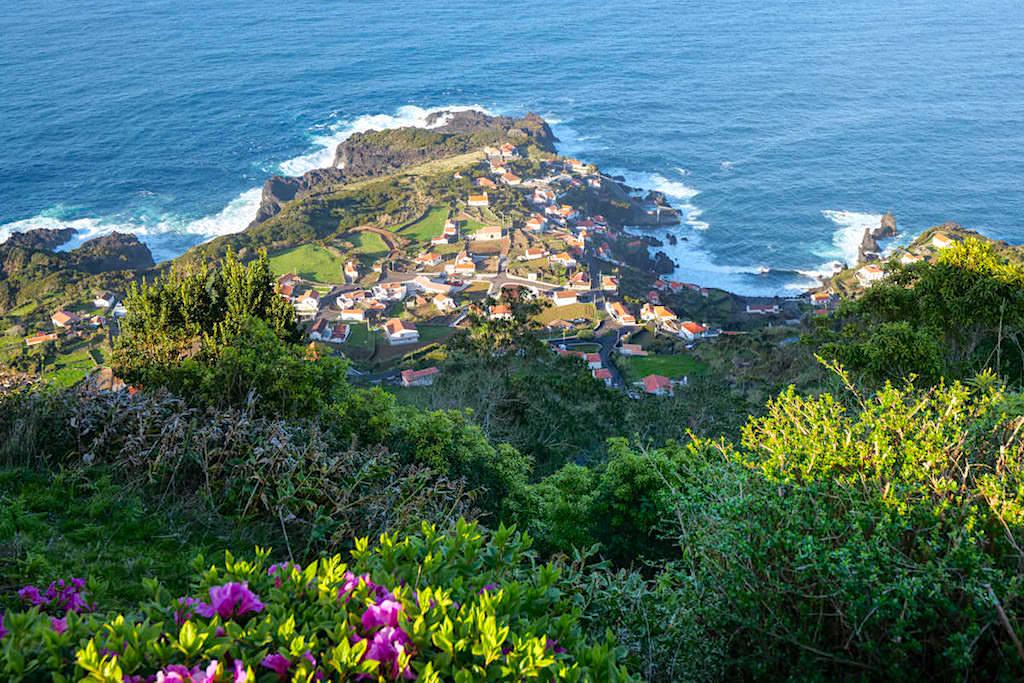 Faja do Ouvidor: schönste Fajas von Sao Jorge - Ausblick von oben - Azoren