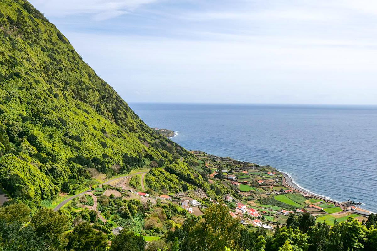Faja dos Vimes - Grandioser Ausblick von oben: schönste Fajas von Sao Jorge, Azoren
