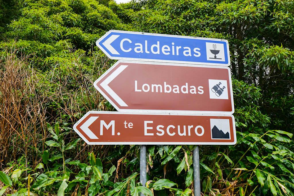 Lombadas Caldeiras Wegweiser - Ribeira Grande - Sao Miguel, Azoren