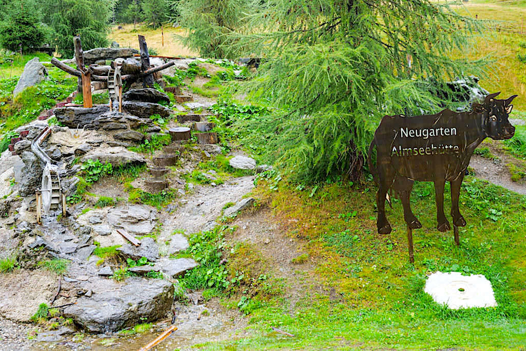 Neugarten Wassererlebniswelt bei der Neugarten Almseehütte: ein Spaß vor allem für Kinder - Gerlitzen Alpe in Kärnten - Österreich