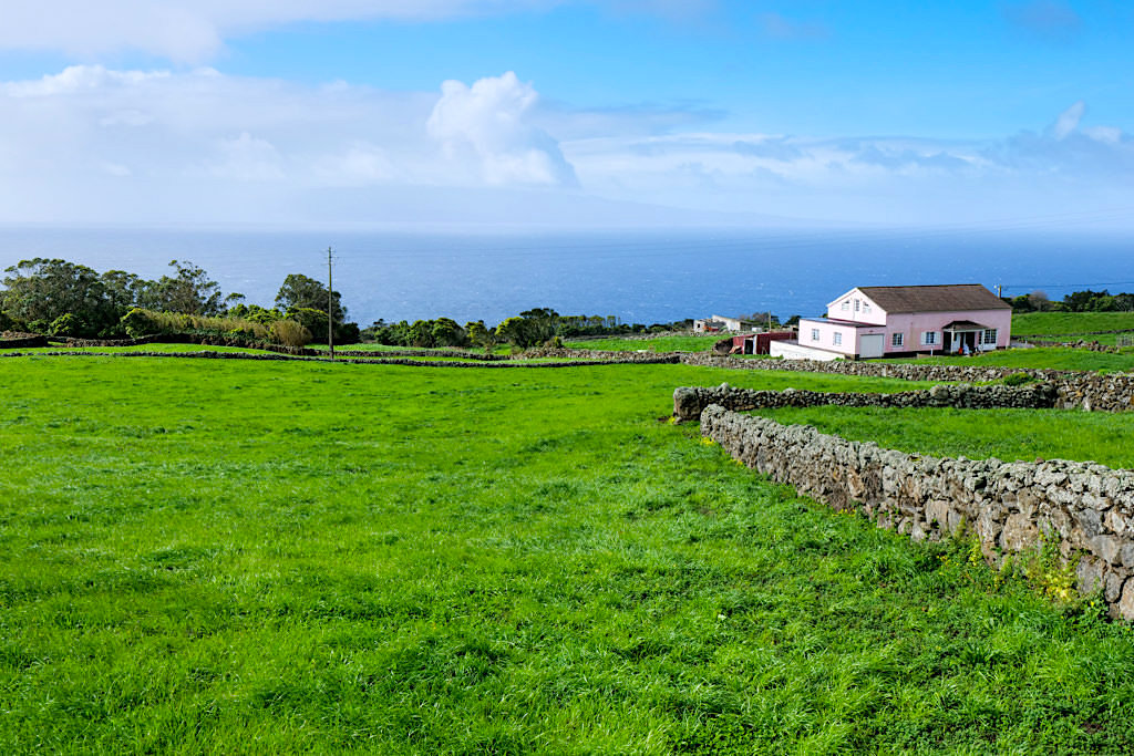 Sao Jorge - Dünnbesiedelter Westen der Azoreninsel : auf dem Weg zum Ponta dos Rosais - Azoren