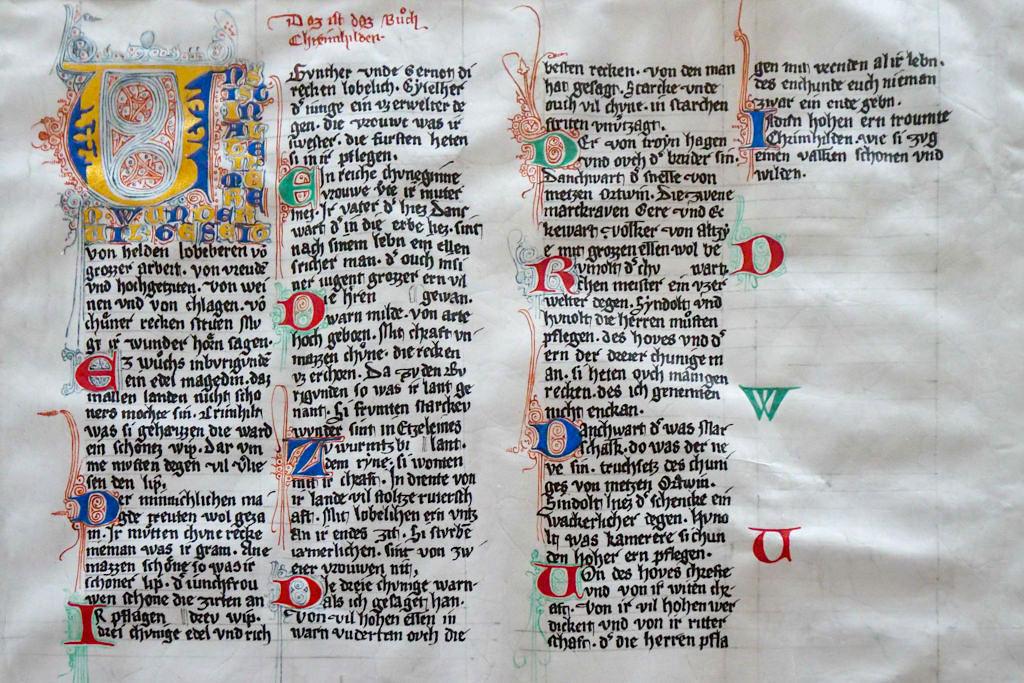 Burg Prunn - Kopien der Original Handschriften des Niebelungenliedes befinden im Schloss - Altmühltal, Bayern