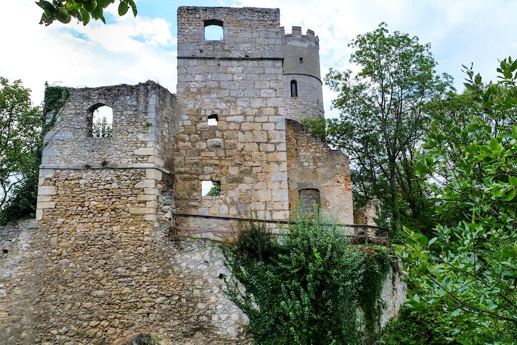 Burg Randeck bei Essing - Außenansicht der Burgruine - Altmühltal Sehenswürdigkeiten - Bayern