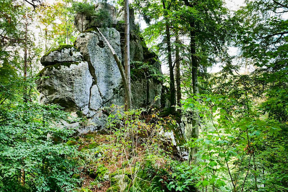 Klamm-Wanderung: imposante Felswand zwischen Riedenburg & Prunn - Altmühltal, Bayern