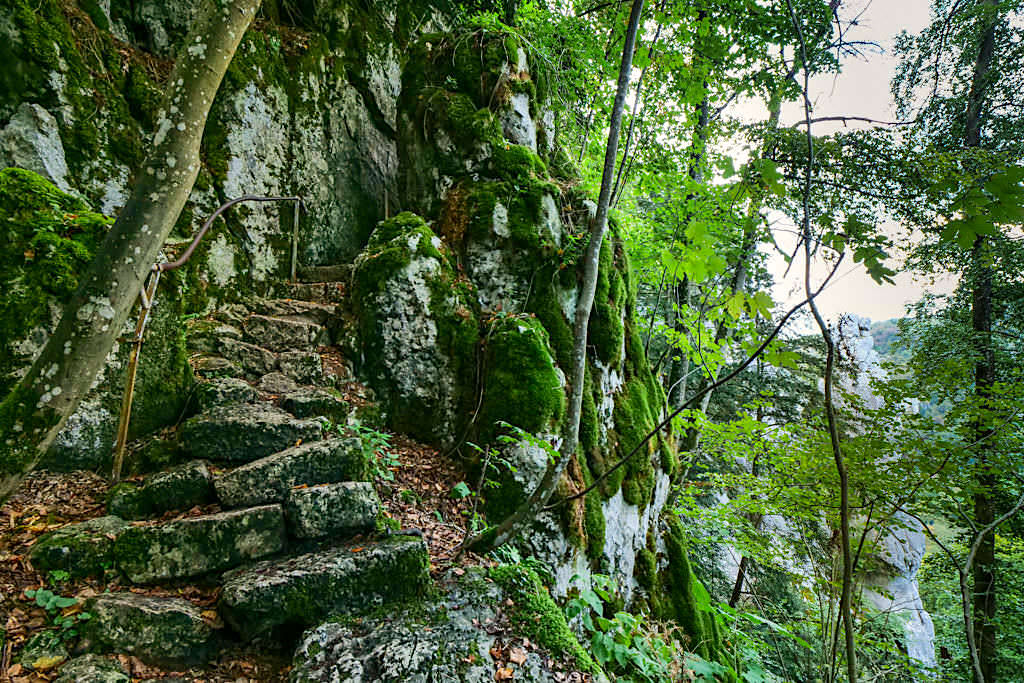 Wunderschöne Klamm-Wanderung zwischen Riedenburg und Prunn - Felsstufen & Steig - Altmühltal, Bayern