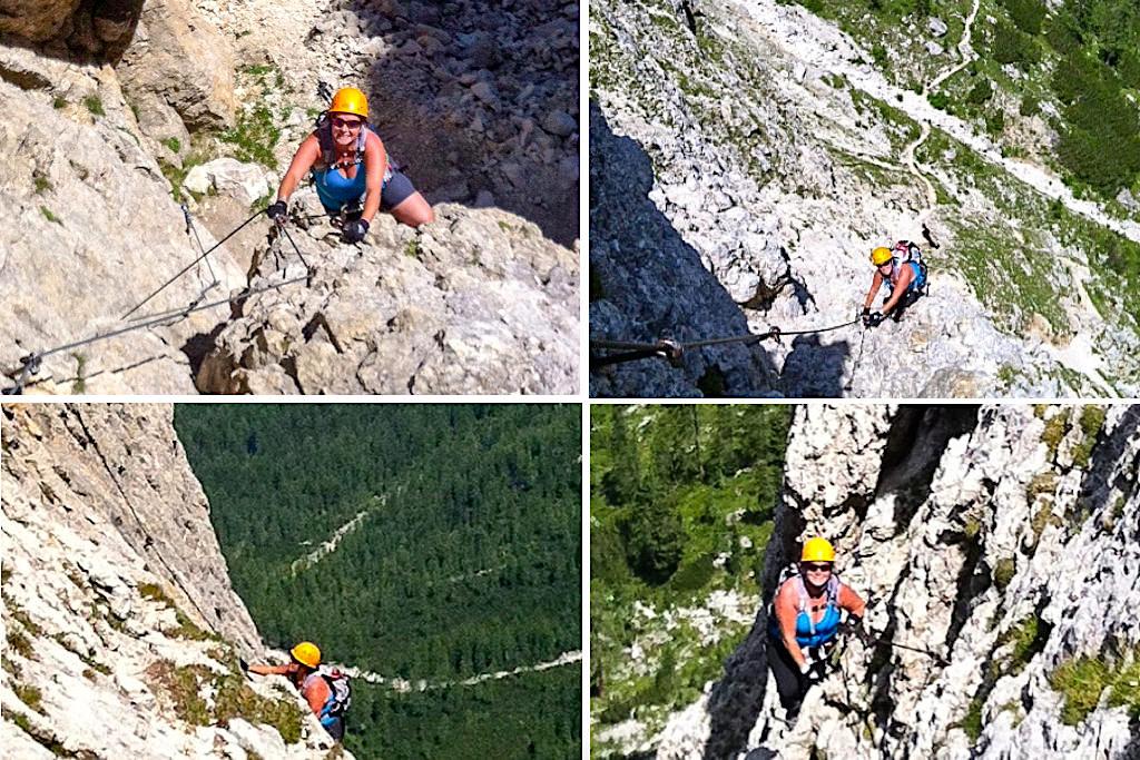 Klettersteige mit dem Lowa Tibet Bergschuh - Klettersteig Pisciadu
