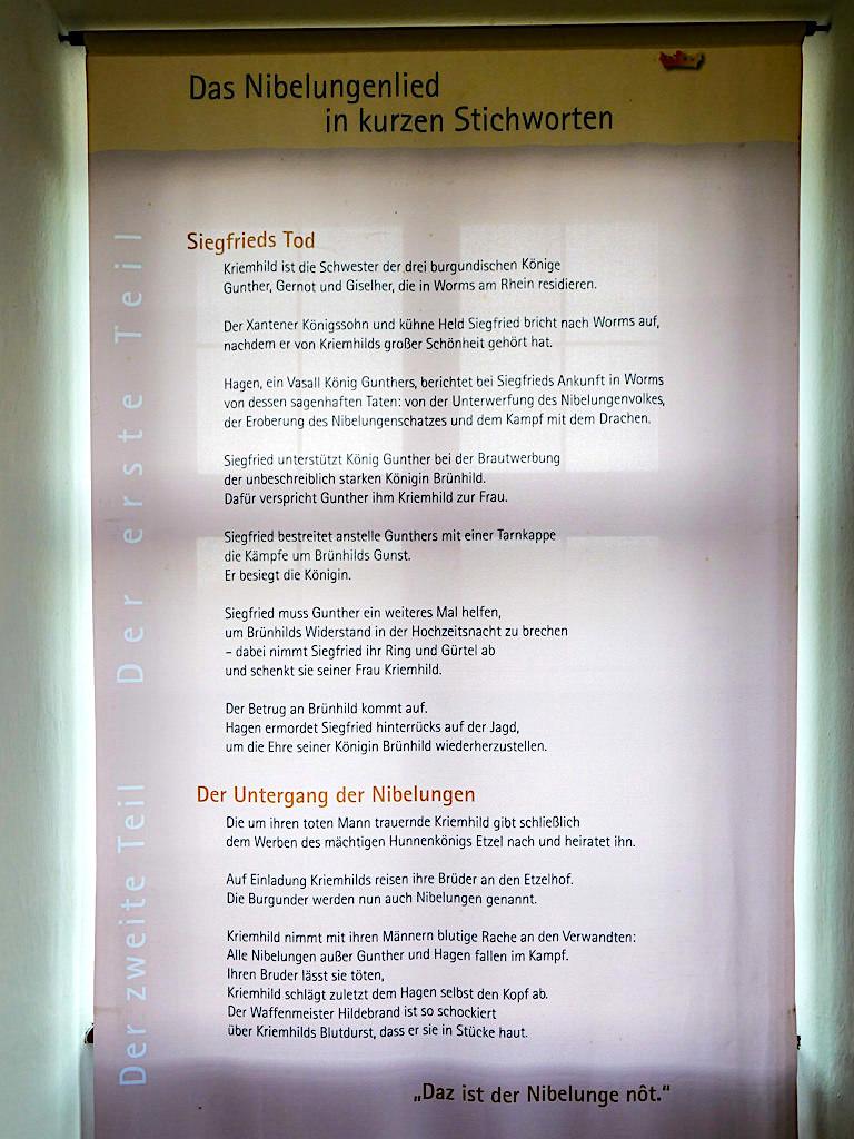 Niebelungenlied - Handschriftliches Original auf der Burg Prunn im 16. Jahrhundert gefunden - Altmühltal, Bayern