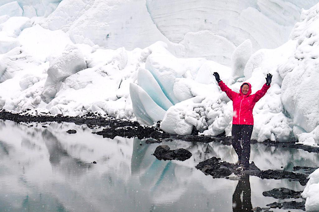Pastoruri Gletscher - See mit riesigen Eisschollen - Unterwegs mit Lowi Tibet Bergschuhen - Huaraz, Peru