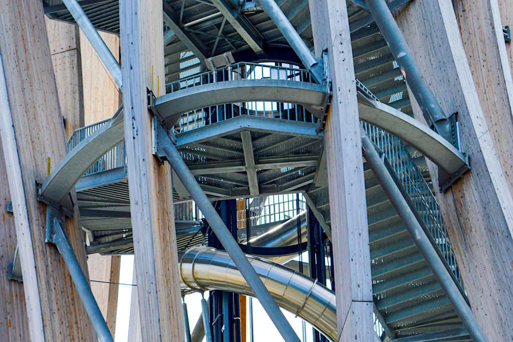 Pyramidenkogel - Holzturm: Konstruktion des Baukunstwerkes - Kärnten, Österreich
