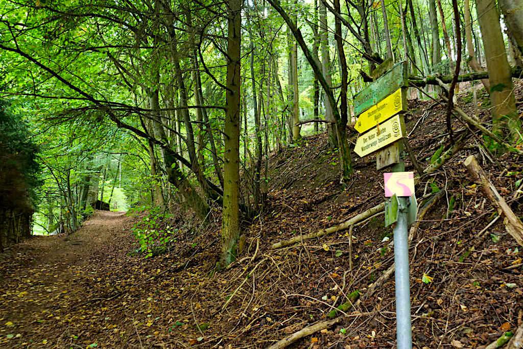 Riedenburg - Start der Klamm-Wanderung Nr. 14 / 14a - Altmühltal, Bayern