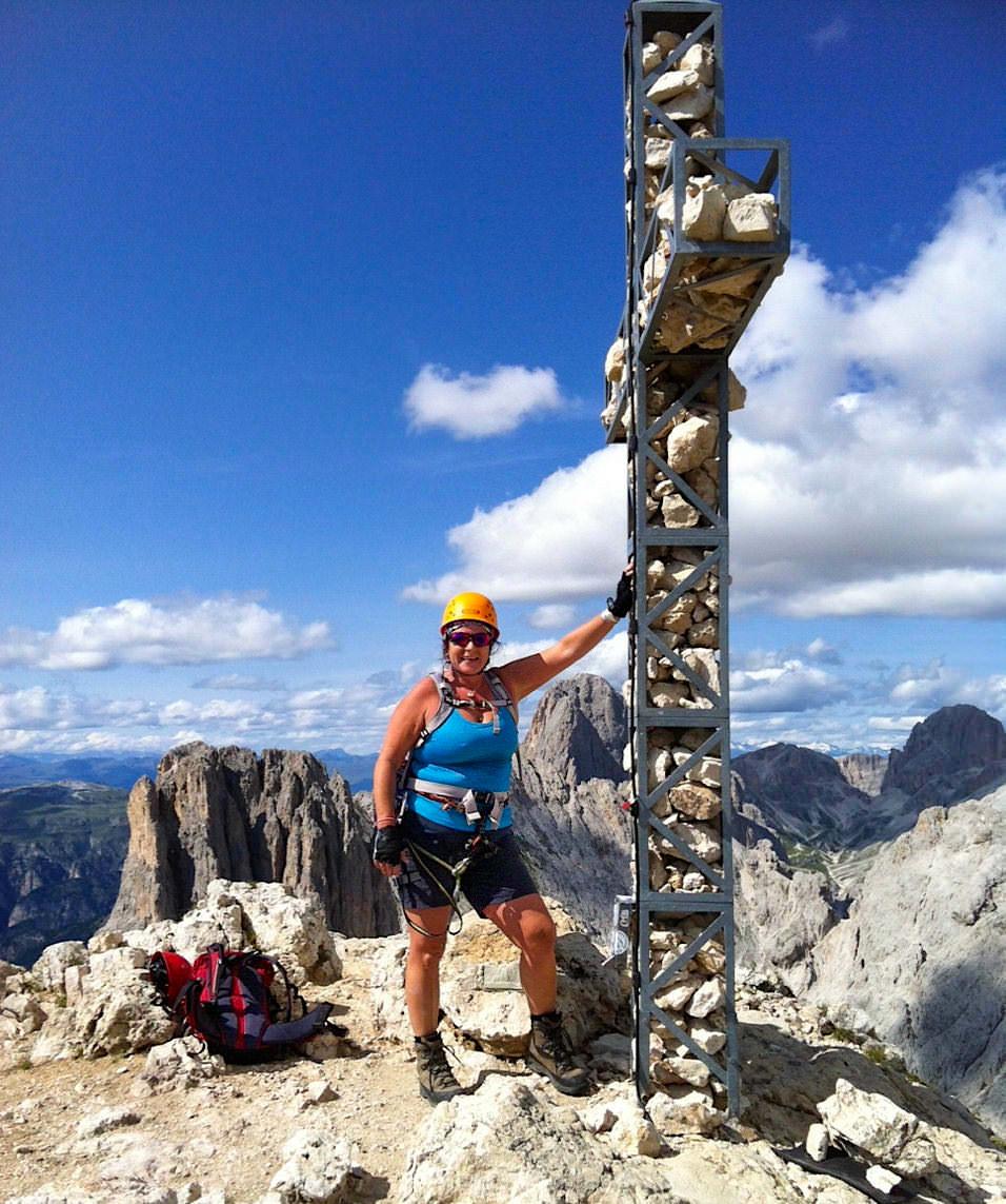 Klettersteigtour mit Lowa Tibet Bergschuh - Rotwandspitze im Rosengarten - Dolomiten