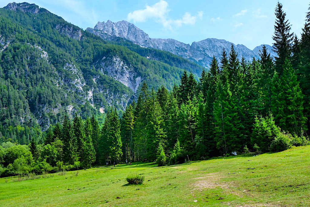 Weißenfelser See - Ausblick auf Ponza Grande & Wälder - Tarvisio, Italien