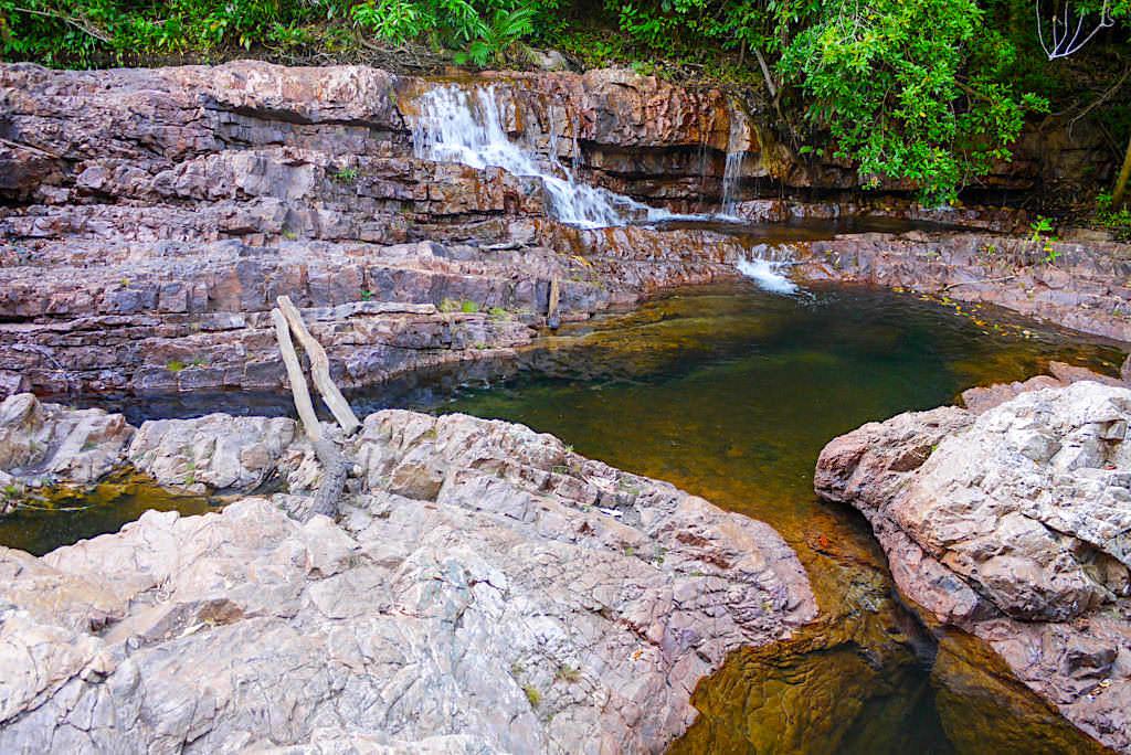 Curtain Falls Wanderung & Wasserfall Kaskaden - Litchfield NP - Northern Territory