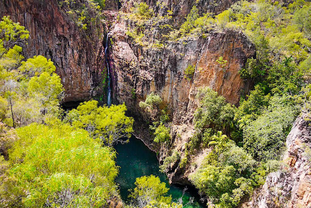 Tolmer Creek Walk - Ausblick auf die Tolmer Falls zur Trockenzeit - Litchfield NP - Northern Territory