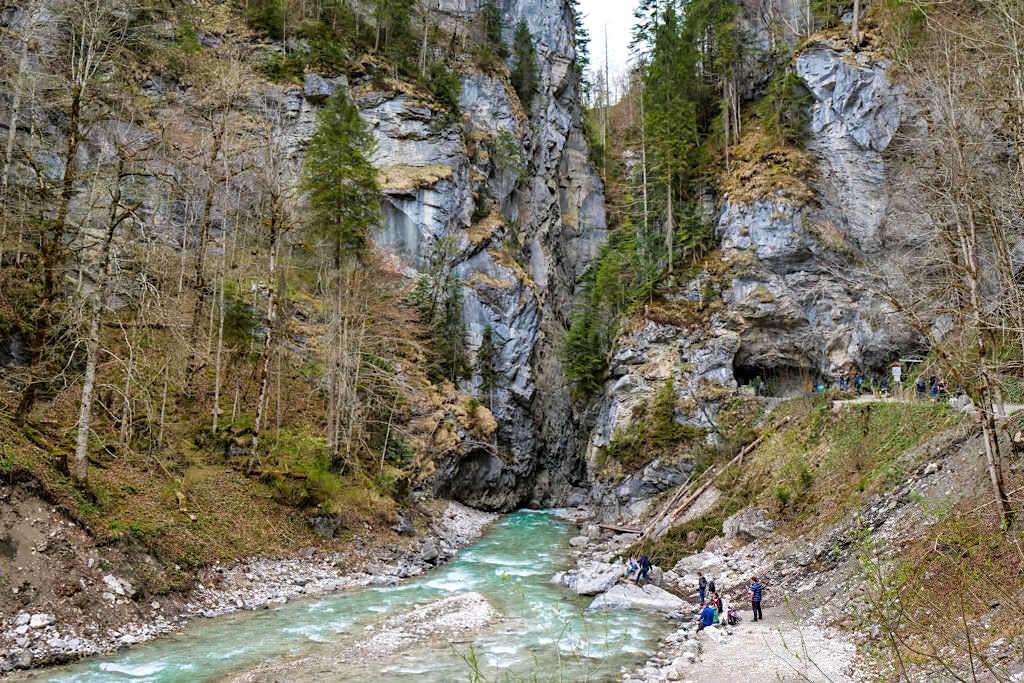 Partnachklamm - Eingang bzw. Ausgang vom Reintal und Süden kommend - Garmisch-Partenkirchen, Bayern