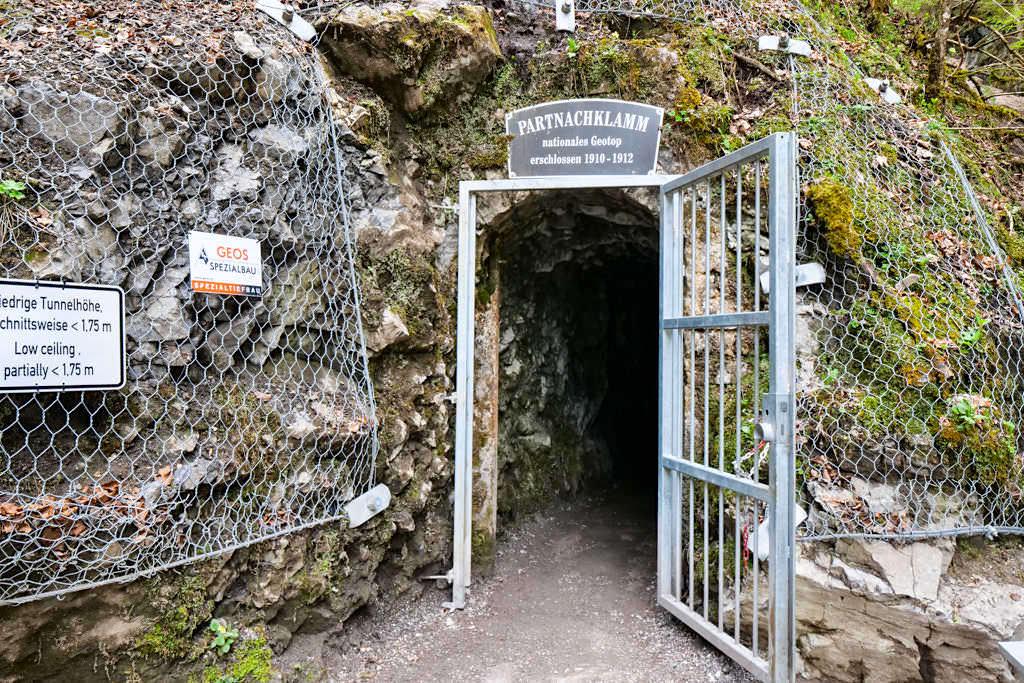 Partnachklamm - Eingang zur Schlucht vom Nordende - Bayern
