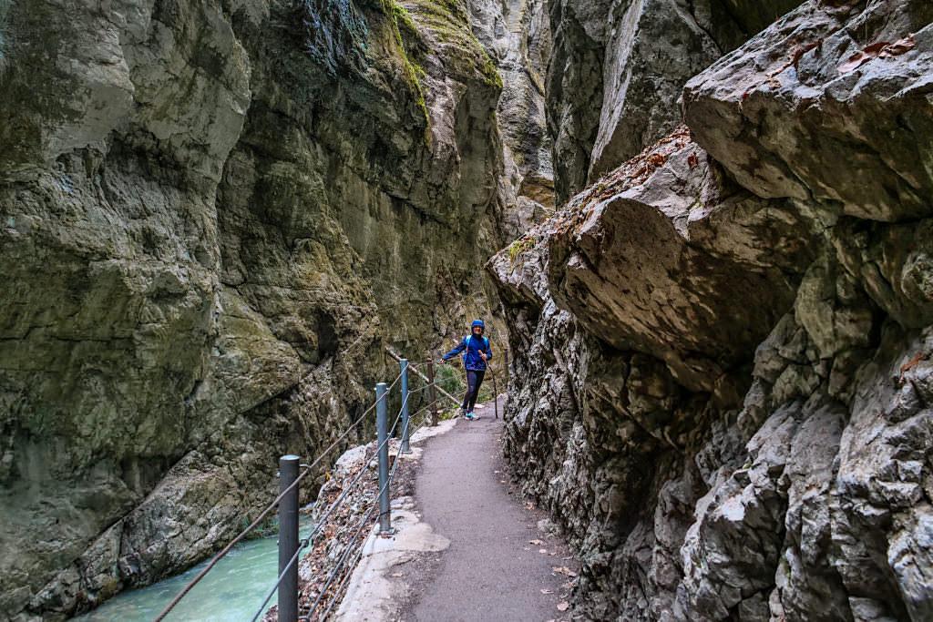 Partnachklamm - Faszinierend enge, steile Gebirgsschlucht - Garmisch-Patenkirchen, Bayern