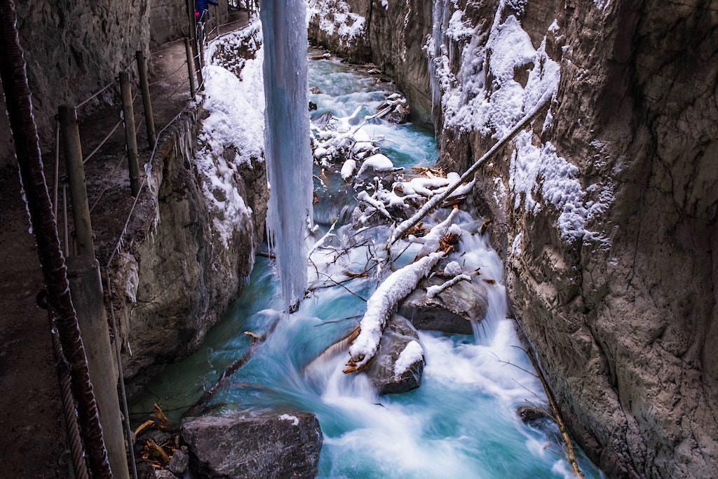 Partnachklamm im Winter - Garmisch-Partenkirchen, Bayern