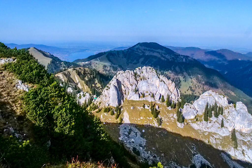 Risserkogel Gipfel - Grandioser Ausblick auf den Blankenstein oder Plankenstein, Wallberg & Tegernsee - Bayern